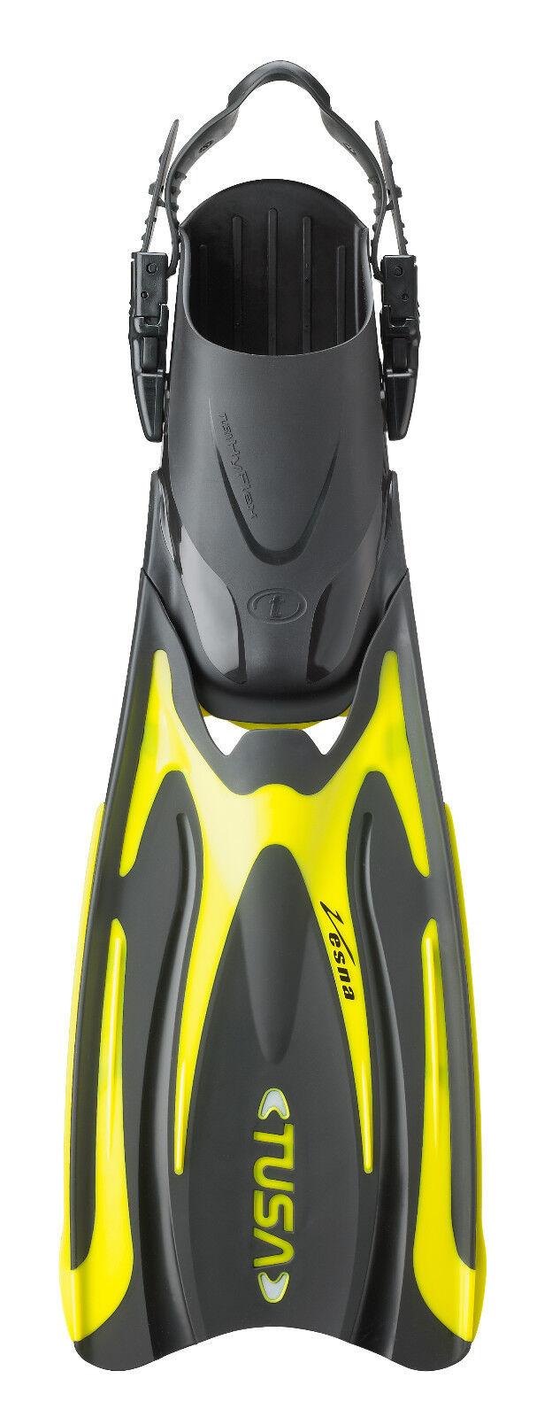 Tusa HyFlex Vesna Fin Open Heel All Sizes for Scuba Snorkeling Yellow