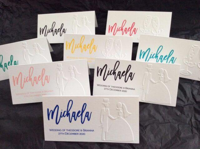 Wedding Name Placecards Personalised Name Custom Escort Cards Guest  Embossed