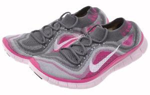 Nike-Free-Flyknit-5-0-Pink-Foil-Grey-US-6-5-9-Woven-615806-016-transform-Motion