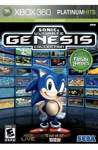 Sonic's Ultimate Genesis Collection Xbox 360 Kids Game The Hedgehog Classics