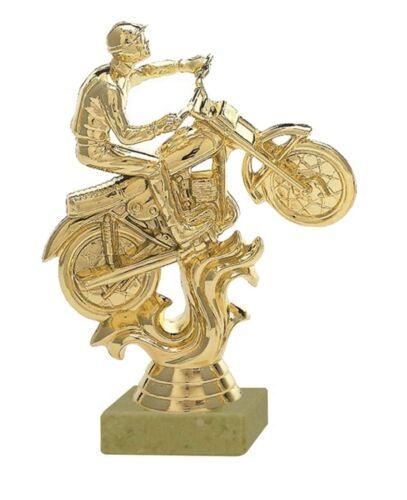 Pokal großer Motocross-Fahrer gold auf Marmor inkl.Gravur 6,45 EUR H=17,5 cm