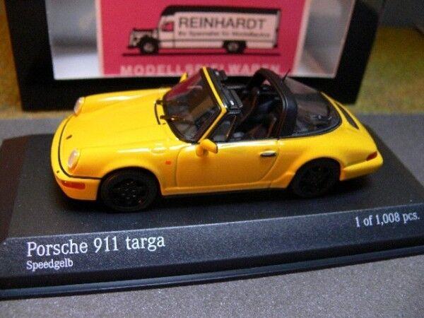 1 43 MINICHAMPS PORSCHE 911 TARGA 1991 Speedjaune 400  061367  À ne pas manquer!
