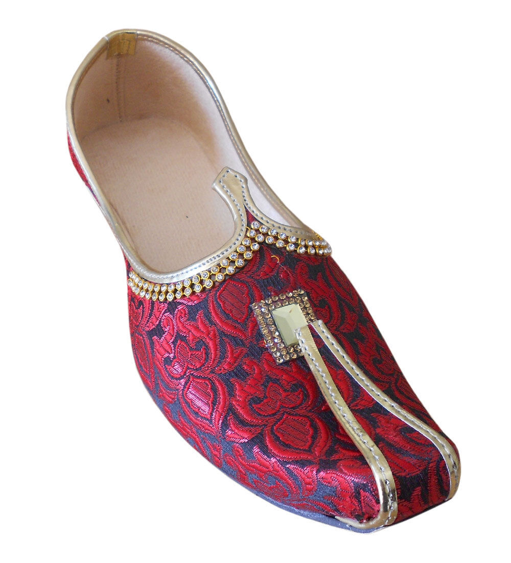 Men shoes Wedding Jutti Loafers & Slip Ons Sherwani Maroon Khussa Mojari US 6-11