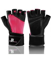 Weight Lifting Gloves With Wrist Wrap - Best Lifting Gloves Pink Medium Fitness