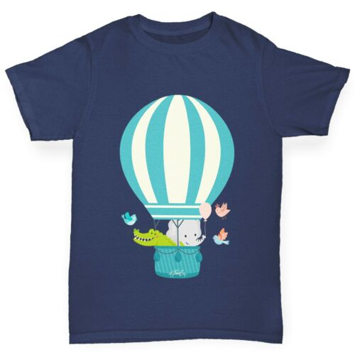 Twisted Envy Boy/'s Animals In Hot Air Balloon T-Shirt