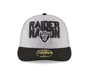 quality design 52904 857a3 Image is loading Oakland-Raiders-New-Era-2018-NFL-Draft-Official-