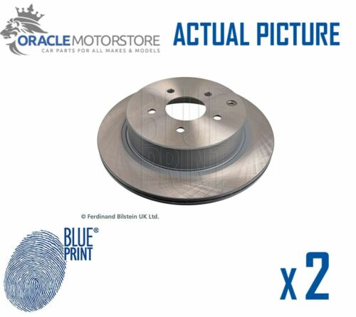 2 x NEW BLUE PRINT REAR BRAKE DISCS SET BRAKING DISCS PAIR OE QUALITY ADN143122