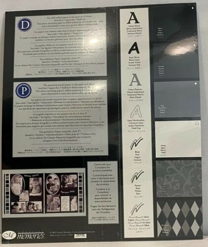 Creative Memories Shades of Black /& White 10x12 Photo Mounting Paper NIP
