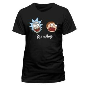 Official-RICK-AND-MORTY-FACES-HEADS-T-Shirt-Black-NEW-XL