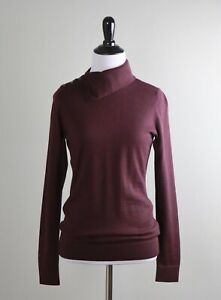 BROOKS BROTHERS $188 Soft Knit 100% Merino Wool Mock Neck Sweater Top Size Small