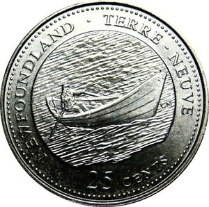 1992-Canada-125th-Newfoundland-25-Cents-Gem-BU-UNC-Quarter