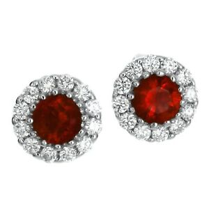 1-ct-Ruby-amp-White-Sapphire-Halo-Stud-Earrings-in-Solid-Sterling-Silver