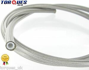 AN-3-JIC-3-1-8-034-I-D-Stainless-Braided-Clear-PVC-Coated-Teflon-Brake-Hose-1m