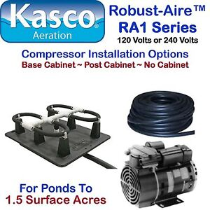 Kasco Aeration Robust Aire Kit Ra1nc Ponds To 1 5 Surface
