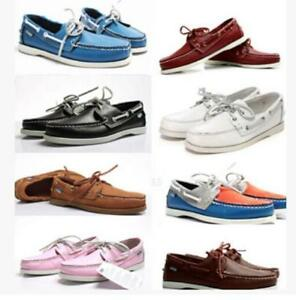 Mens-Docksides-deck-Top-Side-Lace-Up-Casaul-Moccasin-Leather-Slip-On-Boat-Shoes