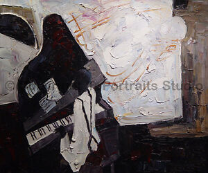Pianoman-Black-and-White-Original-Modern-Oil-Painting-on-Canvas-36-034-x-30-034