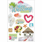 "Paper House 3d Stickers 4.5""x8.5""-beach Wedding Set of 3"