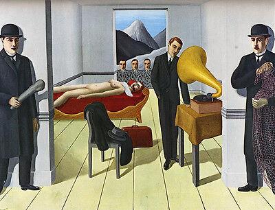 Rene Magritte The Menaced Assasin Vintage Print