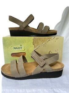 NAOT KAYLA 41 Clay Nubuk Leather Cork footbed comfort $89