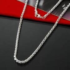Silver Plated Fishbone Chain No Stone Necklace, Men's Birthday Valentine Present