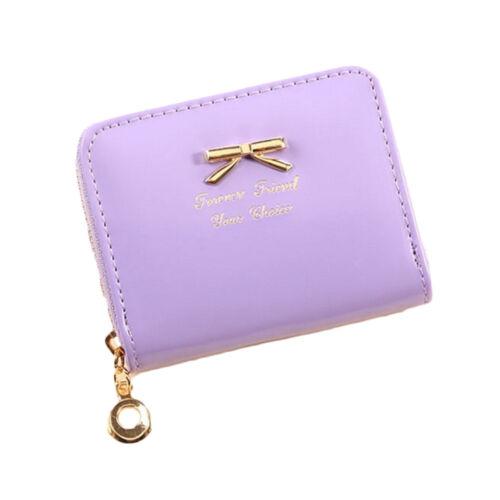 Women Wallet Elegant Clutch Bag PU Leather Wallet Zipper Golden Bowknot Wallet B