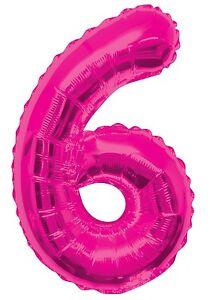 rosa-numero-6-6-fiesta-cumpleanos-gigante-con-Forma-Globo-Helio-Metalizado