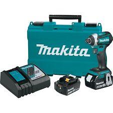 """Makita 18V LXT Cordless 3 Speed Brushless 1/4"""" Impact Driver Tool Kit   XDT14M"""
