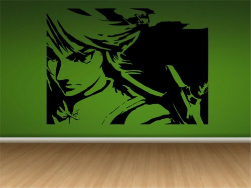 """LINK-ZELDA WALL DECAL 33/"""" X 24/""""  Home Decal-Game Room-Video Game"""