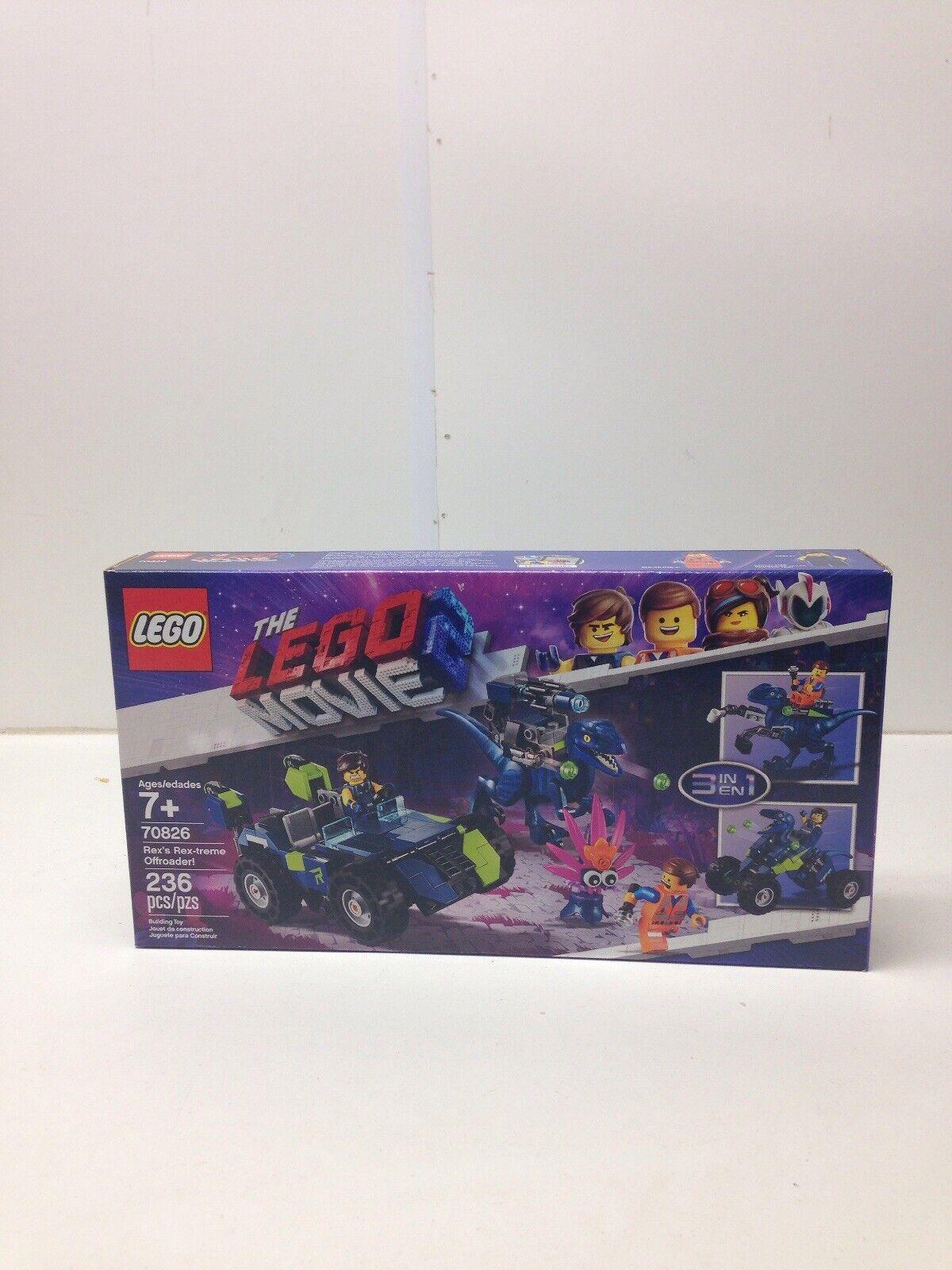 edizione limitata Nuovo Nuovo Nuovo LEGO The Lego Movie 2 Rex's Rex-treme Offstradaer  70826  il miglior servizio post-vendita
