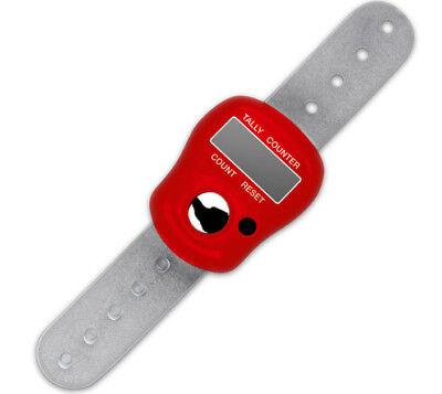 addi digitaler Reihenzähler am Finger Strickreihenzähler 415-7 rot