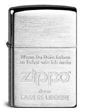 Zippo ® Feuerzeug Lass es Liegen Chrome Brushed