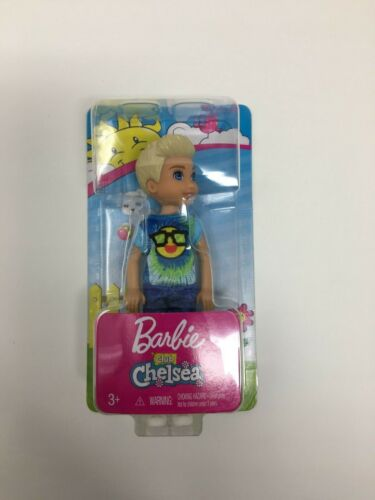 Mattel Barbie Club Chelsea Cute Blonde Hair Boy Tommy Doll Smiley Face FRL83