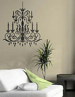 Chandelier Wall Art Stencil - Medium - Reusable Wall Stencils For Diy Home Decor