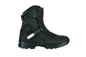 Motorcycle-Raxid-Black-Storm-Adventure-Waterproof-Boots-Touring-Real-Leather100