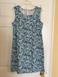 Ladies-Eddie-Bauer-Sleeveless-Dress-Size-Medium