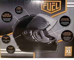 Fuel Helmets SH-FF0017 Unisex-Adult Full Face Helmet (Gloss Black, X-Large)