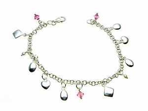 925-Sterling-Silver-bracelet-with-a-variety-of-different-droppers