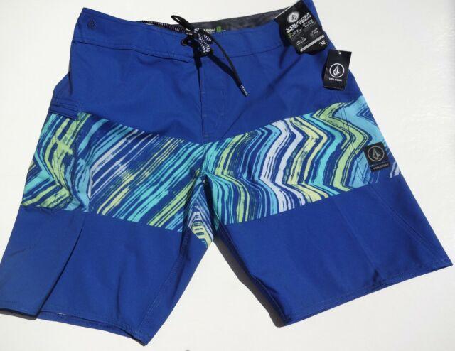 Volcom Mens Mod Tech  4-Way Stretch Boardshorts Swim Trunks  Size 32  NWT