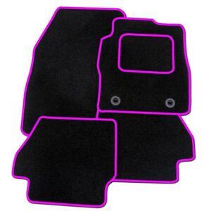 CITROEN DS3 2010 ON UNIVERSAL CAR FLOOR MATS BLACK WITH BLUE TRIM
