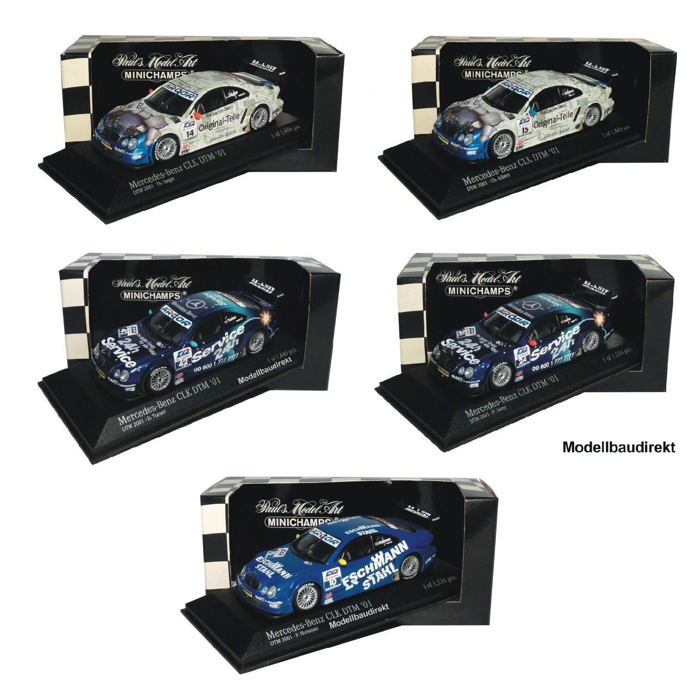 MERCEDES CLK Coupe DTM viaggi auto 2001 1:43 Minichamps per la selezione Nuovo & OVP