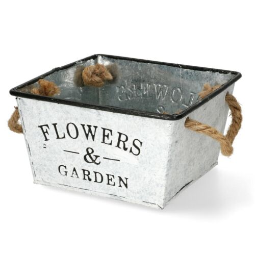 Metallschale Flowers /& Garden I Blumengefäß//Aufbewahrung I Restposten A-77