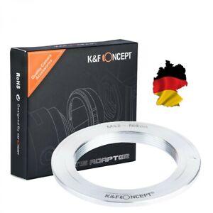 D750 K/&F Concept Adapter ohne Optik M42 Objektive auf Nikon Kamera D3000 D800