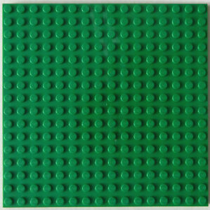 New Green Lego Plate 5x5 Inch 16x16 Dot Stud Floor Roof