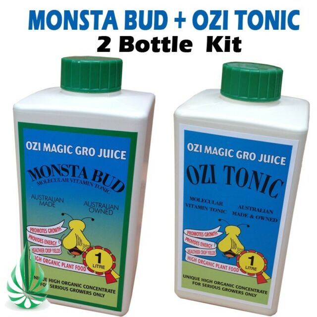 Hydroponics Ozi Tonic Vitamin B Grow Juice With Monsta Bud Nutrient 1L/5L Kit