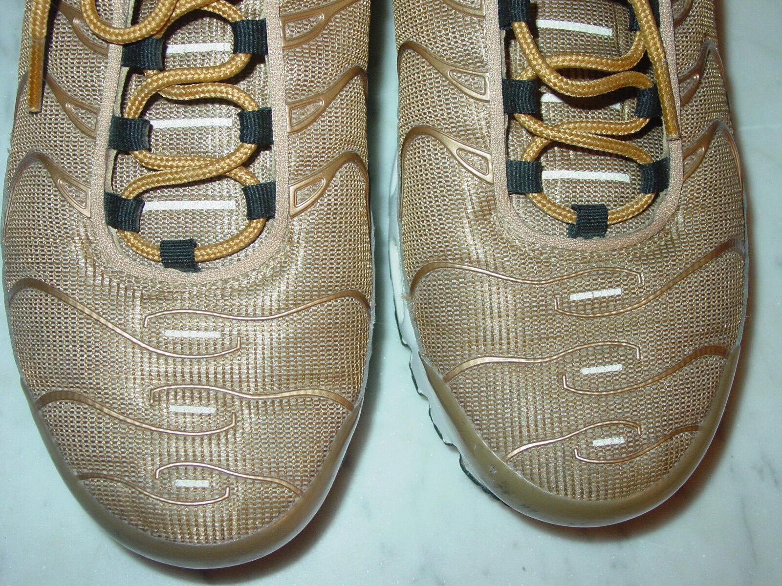 2017 Nike Air Max Plus TN TN TN 1 Tuned Air Metallic gold University Red shoes Size 9.5 0ff005