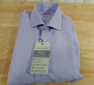 USED-Men-039-s-Perry-Ellis-Portfolio-Travel-Luxe-Long-Sleeved-Dress-Shirt