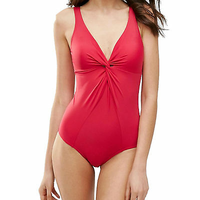 Pour Moi? Twist Control Swimsuit Red 1474 New Swimming Costume