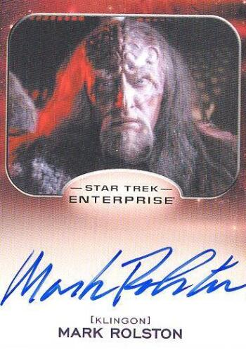2014 Star Trek Aliens Mark Rolston As Magh Autograph Card! MINT! RARE! LIMITED!