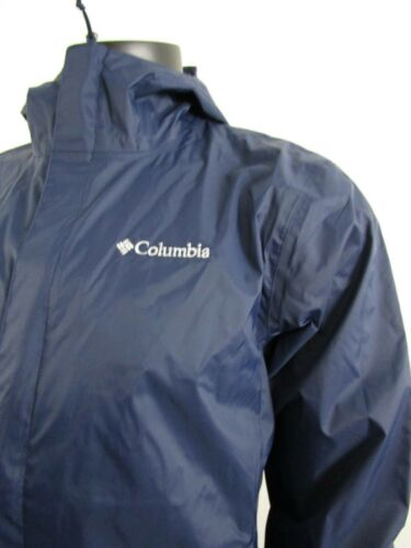 Mens Columbia S-M-L-XL-XXL Timber Pointe Waterproof Hooded Rain Jacket Navy
