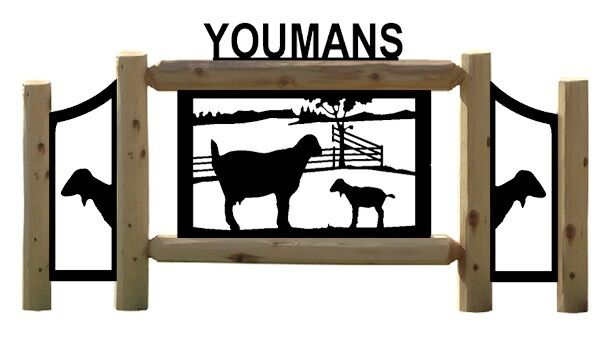 GOAT SIGNS - FARM AND RANCH DECOR